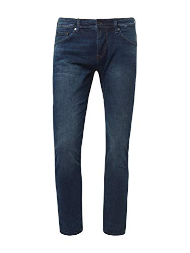 TOM TAILOR Denim Herren Piers Jeans, Blau (Dark Stone Wash Deni 10282), 36W / 32L