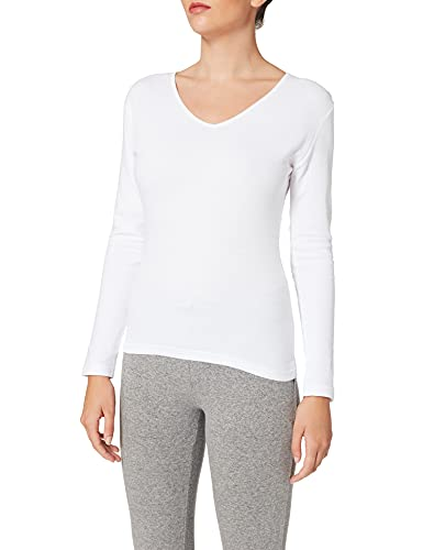 Playtex Camiseta M/L 100% algodón térmica Camiseta, Mujer, Blanco (Blanco 000), 38 (Tamaño del Fabricante:S)