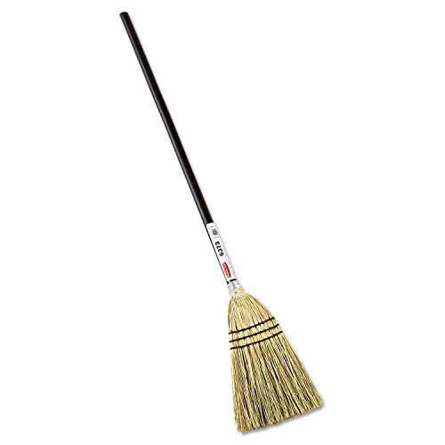 Rubbermaid 6373BRO Lobby Corn-Fill Broom, 38-Inch Handle, Brown