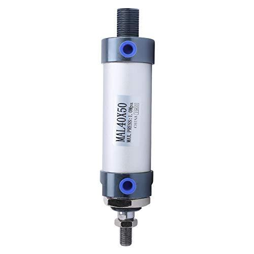Cilindro de aire de 40 mm, pieza de trabajo estándar Cilindro neumático alternativo Aleación de aluminio de 40 mm para la industria de(Stroke 50mm)