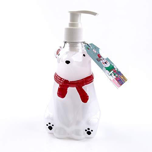 Accentra Seifenspender Eisbär mit Flüssigseife - Weihnachtliche Seife im Eisbären mit Marshmallow Duft - Weihnachts-deko für das Badezimmer - 300ml Handseife