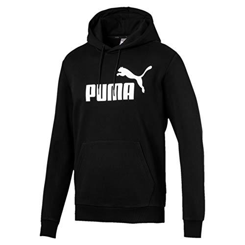 Puma ESS Hoody FL Big Logo Sweatshirt, Hombre, Negro Black, L
