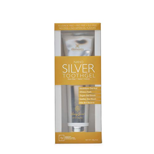 Elementa Silver TOOTHGEL Cinnamon Clove Flavor   5 in 1 Teeth Whitening Gel 4 Fl oz   Dentist Formulated All Natural   Professional Whitening Toothgel   Kills Bacteria   Refreshing Flavor   Whitens Teeth