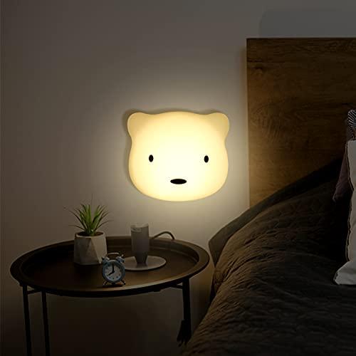 KNMY Luce Notturna LED, con Tamponi Adesivi e Magnete Sensore Funzione Touch Lampada Notturna USB di Portatile per...