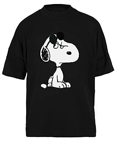 Perrito con Gafas de Sol Negra Camiseta Holgada Unisex Tamaño XL Black Baggy tee Tshirt Unisex Size XL