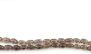 Jewel Beads Natural Beautiful jewellery Big Halloween Sale 1 Strand Smoky Quartz Faceted Oval Briolettes - Center Drill Ovel Beads 9mmx5mm-11mmx7mm 7.5 Inches SB4462Code:- JBB-9684