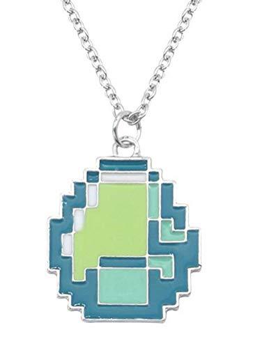 Mosaik Sandkasten Legierung Anhänger Halskette Damen Herren, WLG, Grün