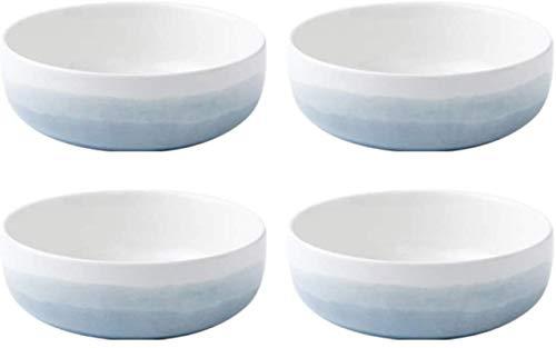 Qilo Porcelana Bowl - Alta Temperatura de cocción/Pintado a Mano Craft - Smooth Esmalte y fácil de Limpiar - Tazas de Arroz - Adecuado for su Horno de microondas, lavavajillas, refrigerador