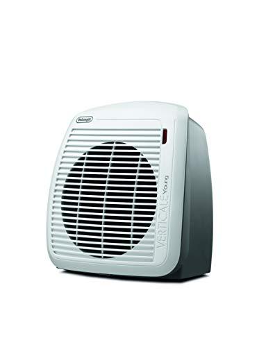 DeLonghi Schnellheizer HVY1030 - Heizgerät mit 2 Heizstufen für Räume bis max. 60 m³, Sicherheitsthermostat, Frostschutzfunktion, Raumthermostat, Sommerventilation, weiß/grau