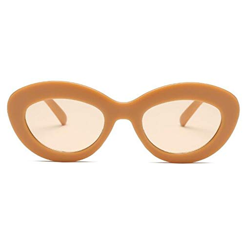 KCJKXC retro ovale zonnebril dames merkontwerper roze vintage retro zonnebril frame dames zonnebril