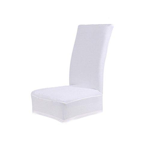 WINOMO Housse de chaise de mariage stretch - Blanc