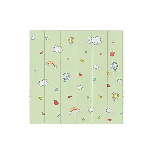 Papel Tapiz 3D DIY STEREO Dibujos animados Papel pintado Peel and Stick Azulejos Lindo imitación Paneles de pared de ladrillo para niños Soft Soft Tablero de espuma 3D Etiqueta 70 * 70 cm para la pare