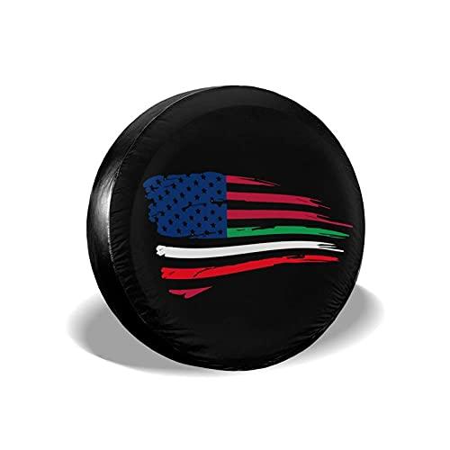 Hokdny Cubierta De Rueda De Neumático De Repuesto Bandera De Italia Americana Cubiertas De Neumáticos Universales Impermeables A Prueba De Polvo