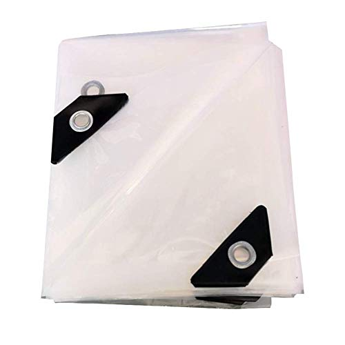 LMK Tarpaulin Sheet,Plastic Sheeting Dustproof Polyethylene Waterproof Groundcover Plastic, Transparent, Thickness 0.12Mm,Clear,6x8m