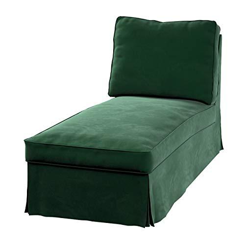 Dekoria Ektorp Bezug für Recamiere ohne Armlehne, neues Modell Sofahusse passend für IKEA Modell Ektorp grün