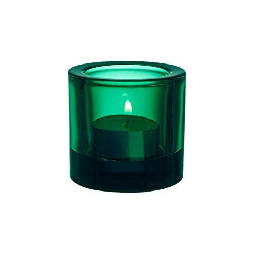Iittala Kivi Teelichthalter, Glas, Smaragd, 6 x 6 x 7 cm
