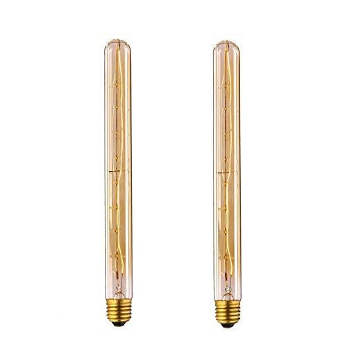 Vintage Glühbirne, Frideko 2 Stück T300 E27 40W Nostalgisch Edison Filament Glühlampe Leuchtmittel warmweiß für Pendelleuchte Wandleuchte Deckenleuchte