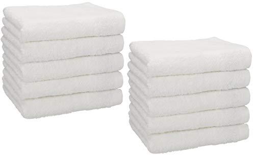 Betz 10 Stück Seiftücher Premium 95°C waschbar 100% Baumwolle Seiflappen-Set 30x30 cm Farbe weiß
