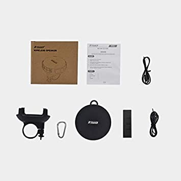 UISI Portable Bluetooth Speaker for Bike,IPX7 Waterproof Shower Bluetooth Speaker with HD Sound,Support TF Card,Wireless Bicycle Speaker for Home Boating Pool Beach