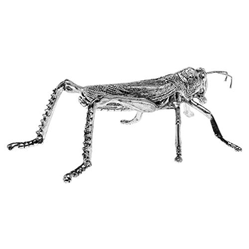 aubaho Zinnfigur in Form Einer Heuschrecke Figur Skulptur Insekt Zinn Glücksbringer