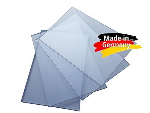 Polycarbonat Platte, PC Zuschnitt TRANSPARENT, Stärke 3-8mm, VIELE Verschiedene Formate, beidseitiger UV-Schutz TOP QUALTÄT (75 x 50cm, 5mm UV-Schutz)
