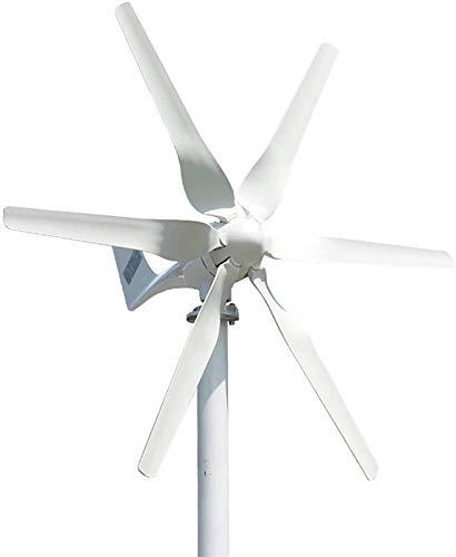 Turbina eólica 3000W 12V / 24V / 48V Aerogeneradores + Controlador de fibra de nylon 6...
