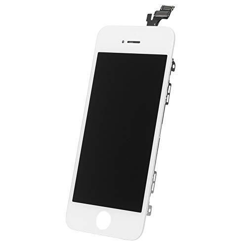 GZYF - Pantalla LCD para iPhone 5, pantalla digitalizadora montada de cristal y pantalla táctil, recambios de reparación de reparación color blanco
