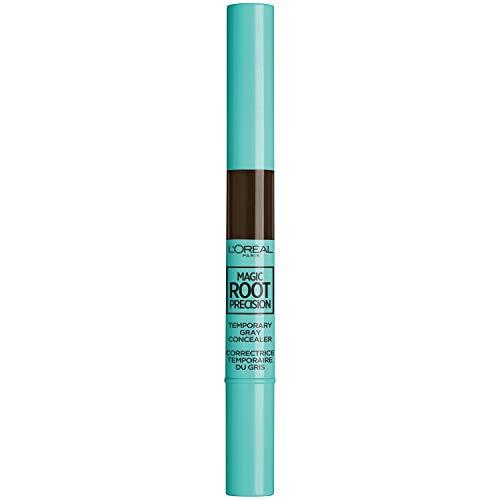 L'Oreal Paris Magic Root Precision Temporary Gray Hair Color Concealer Brush, 4 Dark Brown, 0.05 fl; oz.