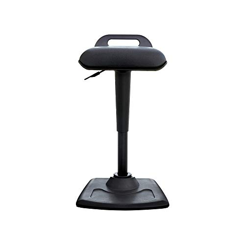 Vari Active Seat - Adjustable Ergonomic Standing Desk Chair - Dynamic Range of Movement - Wobble Perch Stool - No Assembly Required