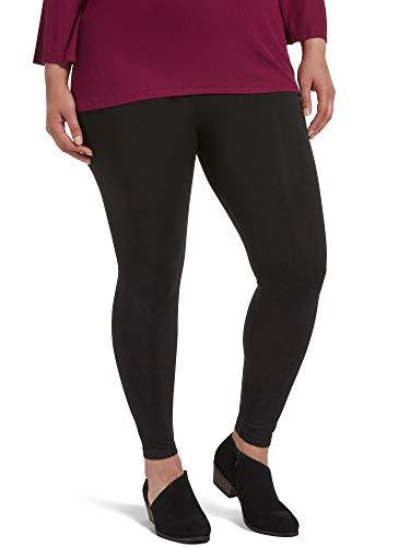 HUE womens Seamless Leggings, Assorted Hosiery, Black, Large-X-Large US