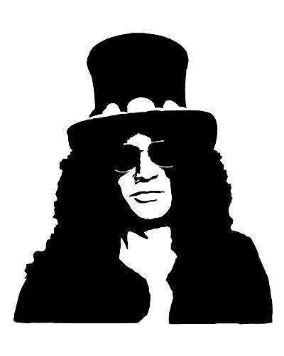 Slash Hat Vinyl-Aufkleber Guns N Roses Record Appetite for Destruction Axl