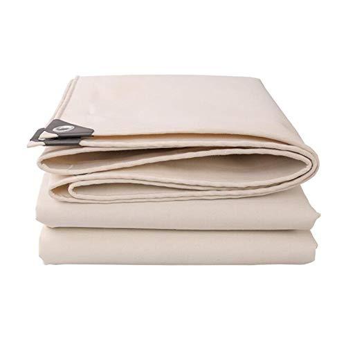ZBM-ZBM dekzeil, zware tarp luifel wit polyester dekzeil waterdicht meubilair caravan afdekplaat multifunctionele tent, boot, rv of zwembad dekzeil canvas waterdicht tarp 2mx3m Kleur: wit