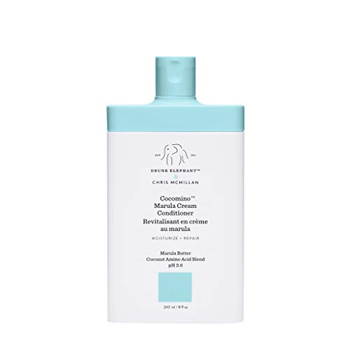 Drunk Elephant Cocomino Marula Cream Conditioner. Concentrated and Scalp-Friendly Nourishing Conditioner for Hair. (8 fluid ounces)