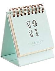 AchidistviQ 2020-2021 mini kalendarz biurkowy 2020-2021 dekoracja biurka akcesoria comiesięczny dzienny planer biurko kalendarz do planowania i organizacji - zielony