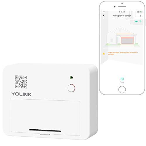 Smart Garage Door Sensor, YoLink 1/4 Mile World's Longest Range Wireless Garage Door Sensor Works with Alexa IFTTT, Smartphone Monitoring App Alerts Open Reminder Home Security, YoLink Hub Required