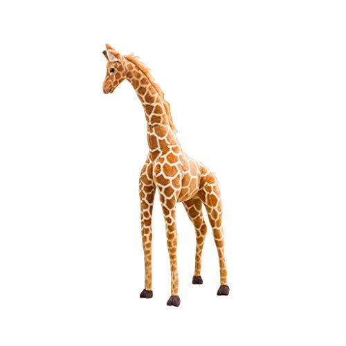 FBGood - Peluche de jirafa gigante para niños, juguete de peluche de jirafa, peluche, regalo para niños, peluche suave y cómodo