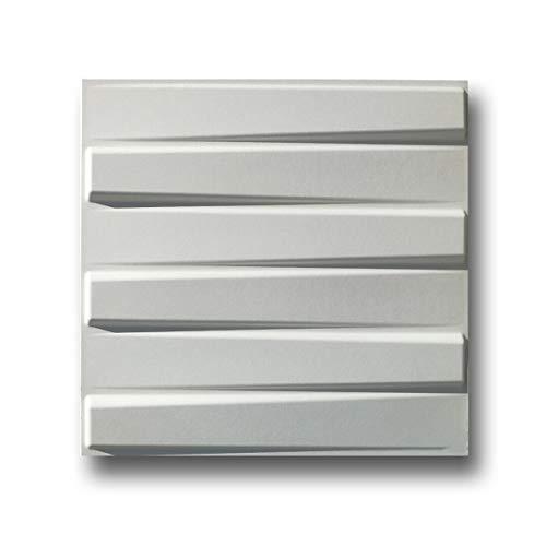 Panel 3D decorativo pared diseño 50 x 50 cm de fibra de bambú 100% NAT. Mod. BLADET-BIT