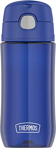 Thermos Funtainer 16 Ounce Plastic Hydration with Spout, Blueberry