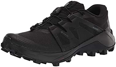 Salomon mens Wildcross Gtx Trail Running, Black/Black/Black, 10.5 US