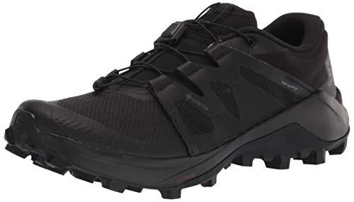 Salomon Men's WILDCROSS GTX Trail Running, Black/Black/Black, 9