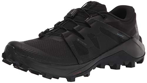 Salomon mens Wildcross Gtx Trail Running, Black/Black/Black, 10.5 US