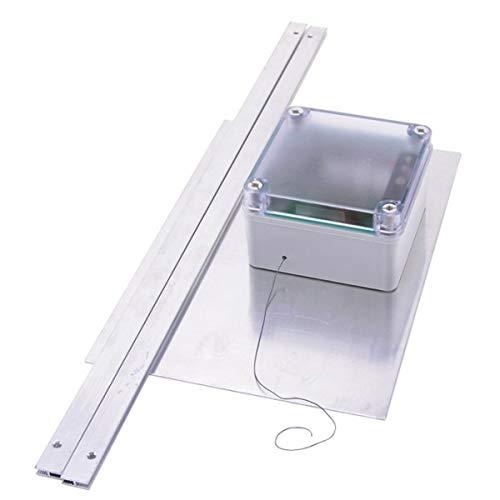 BTVSM Automatische Hühnerklappe Hühnertür Hühner Pförtner mit Klappe 32cm x 22cm und Zeitschaltuhr mit Lichtsensor