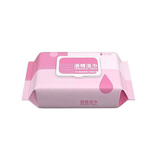 SMX Antibacteriële Cleaning Wipes Disposable Vochtige doekjes Natte, natte handdoeken, Adult Large tassen, 80 Tablets/Pack (Color : 1 Pack)