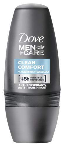 Dove Men+Care Anti-Transpirant Deo Roll-On für 48 Stunden Schutz Clean Comfort 0% Alkohol, 3er Pack (3 x 50 ml)