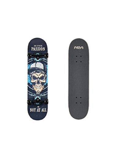 AREA Komplett Skateboard für Einsteiger Anfänger, 7,9inch, mit Aluminium Truck (Passion)