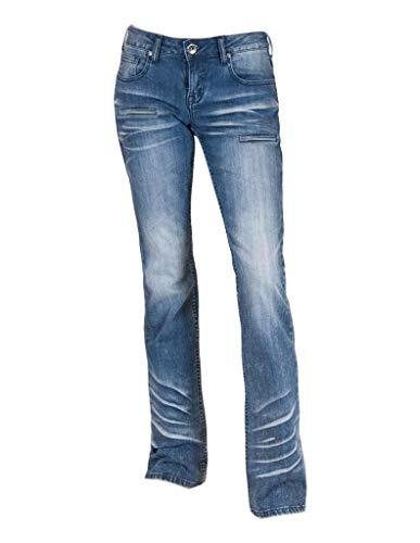 Cowgirl Tuff Western Jeans Womens Summit 27 X-Long Med Wash JSUMMT