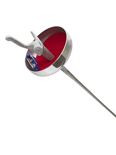American Fencing Gear Fencing Epee Electric Sword Weapon National Grade with 1 Guard, 1 Guard Pad and German Fitting Tip and Barrel - Includes 1 Spare Blade - Size 5 (French Grip, Right)