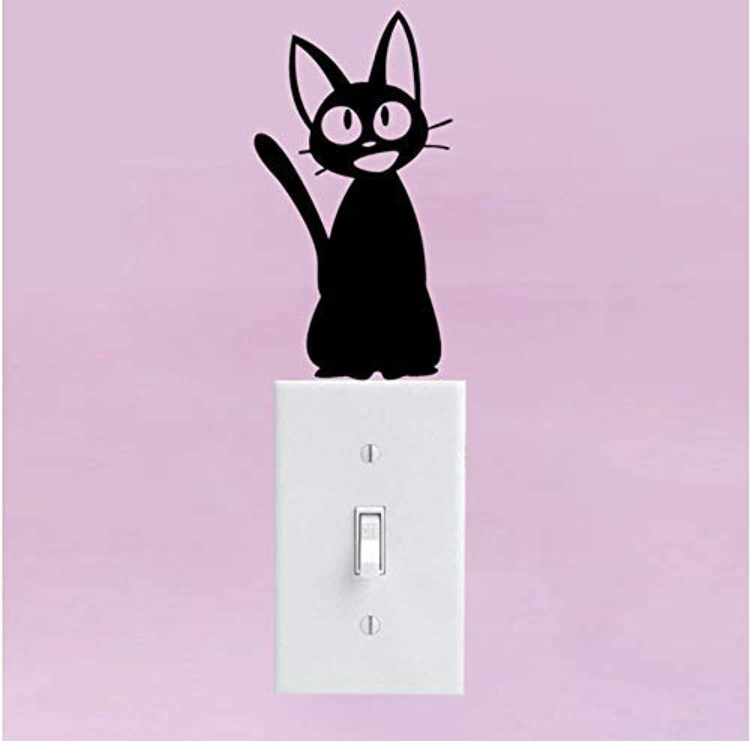 BMY Cat Vinyl Decal Sticker Delivery Service Anime Cartoon Switch Wall Decor