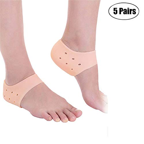 MIAOXIAO Plantar Fasciitis Heel Cushion Foot Sleeve Gel Heel Pads for Support Breathable Protective Silicone Heel Protector To Instantly Relieve Pain And Pressure Protect Bone & Heel Spurs,Complexion
