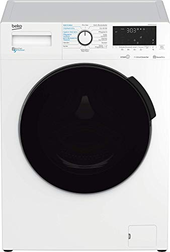 Beko WDW85141Steam1 Waschtrockner/ Touch-Display mit Startzeitvorwahl 0-24 h/ Wasserkondensation/ Bluetooth/ Dampffunktion/ Nachlegefunktion/ 8 kg Waschen, 5 kg Trocknen/Energieklasse C